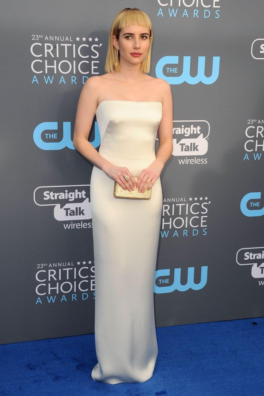 Emma Roberts At 2018 Critics Choice Awards In Santa Monica
