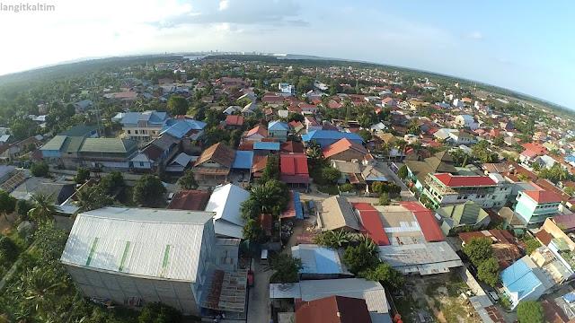 Pesona Foto Udara Pemukiman Kota Bontang Kaltim