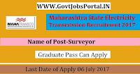 Maharashtra State Electricity Transmission Recruitment 2017 – Surveyor
