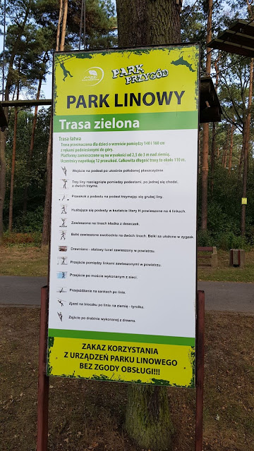 Park linowy Ostrów wlkp trasy