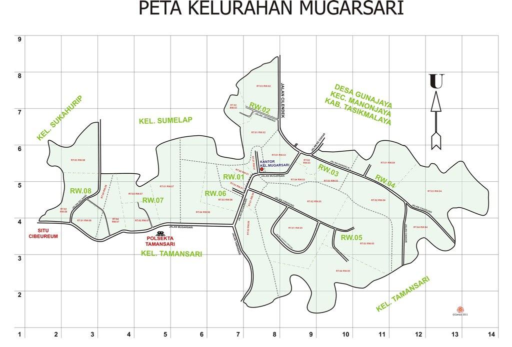 Peta Kelurahan Mugarsari Kecamatan Tamansari Kota ...