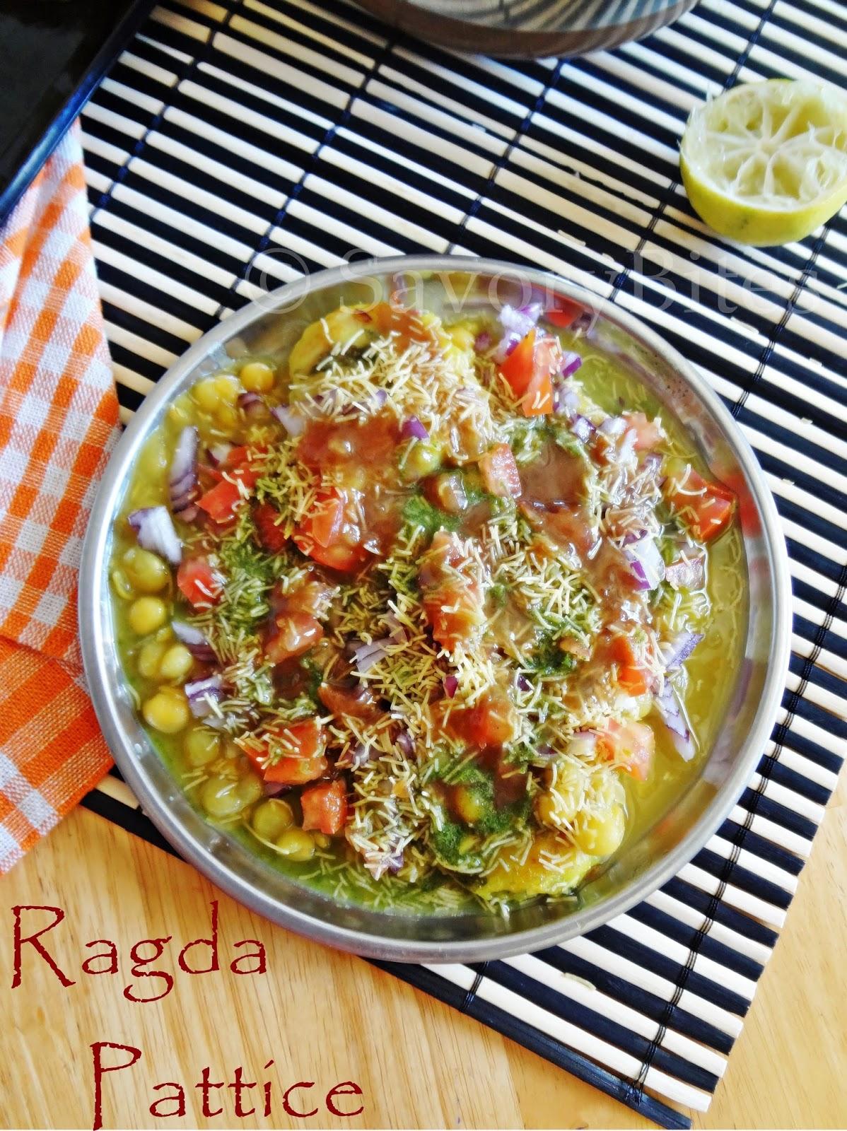 Ragda Pattice Chaat Snacks Street Food