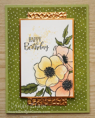 Heart's Delight Cards, Painted Poppies, Birthday Card, 2020 Jan-June Mini Catalog, Stampin' Up!
