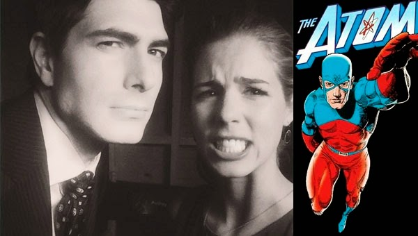 Emily Bett Rickards y Brandom Routh en Arrow