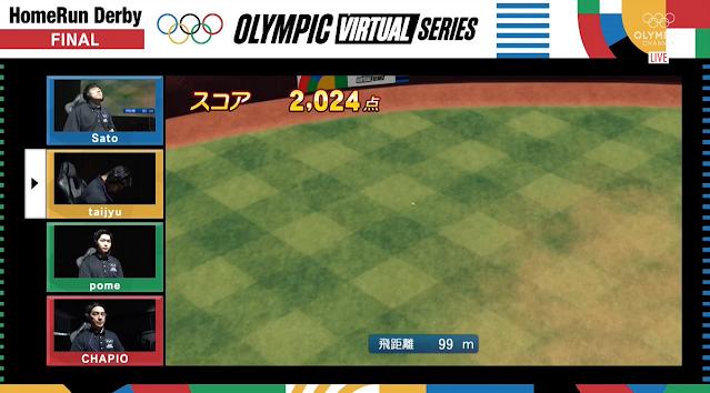 eBaseball Powerful Pro Baseball 2020 HomeRun Derby finals Olympic Virtual Series taijyu failed