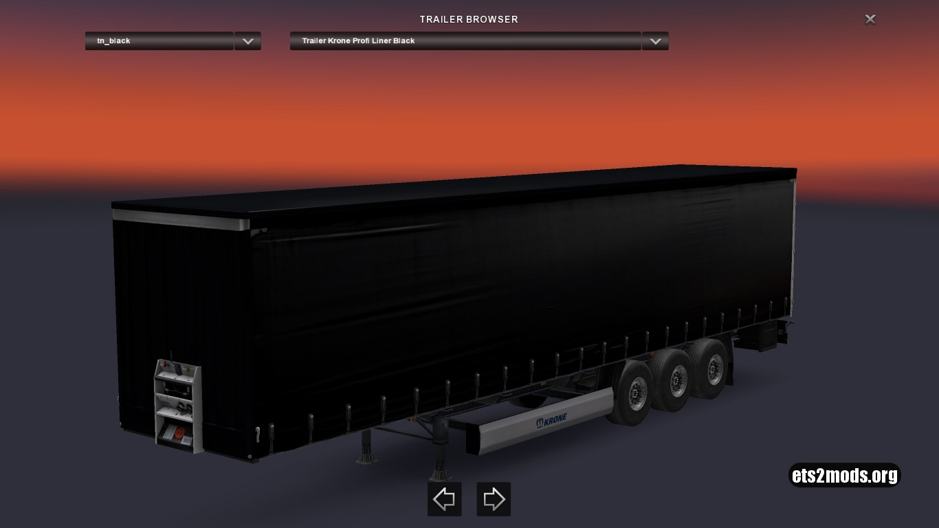 Krone Black GB Trailer