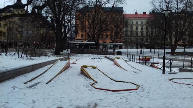 Minigolf at the Vasaparken in Vasastan, Stockholm