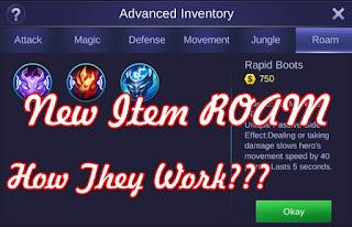 fungsi item roam mobile legends