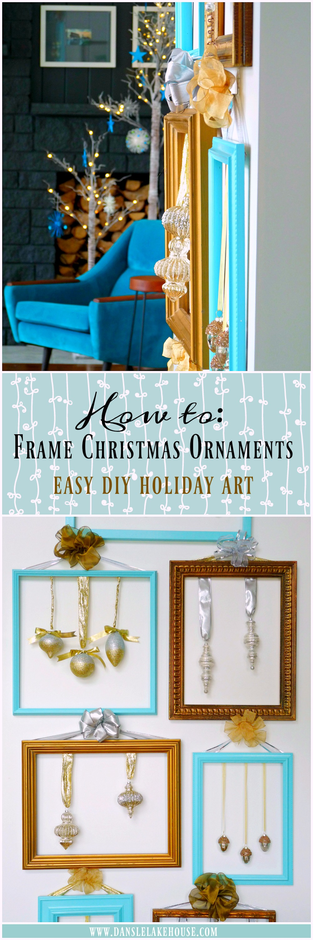 How to Frame Holiday Ornaments