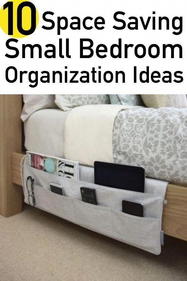 space saving small bedroom organization idea