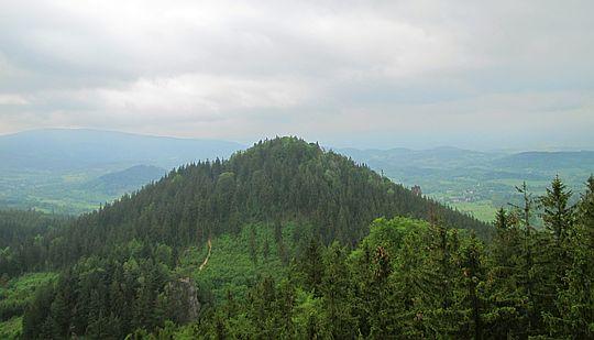 Krzyżna Góra (widok z Sokolika).