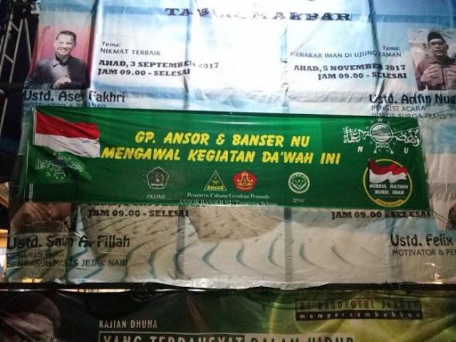 Demi NKRI, GP Ansor Tangsel Kawal Pengajian Felix Siauw
