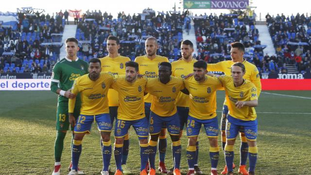 Once inicial de UD Las Palmas en Butarque