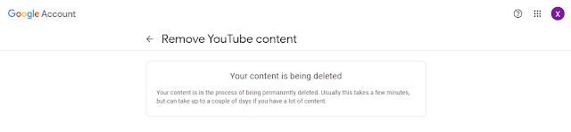 YouTube Channel deleted
