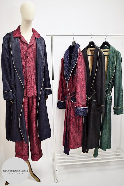 mens paisley silk robe dressing gown luxury pajams gentlemans pyjamas set housecoat