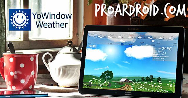 تطبيق YoWindow Weather v2.8.22 Apk لتتبع احوال الطقس مدفوع للاندرويد logo