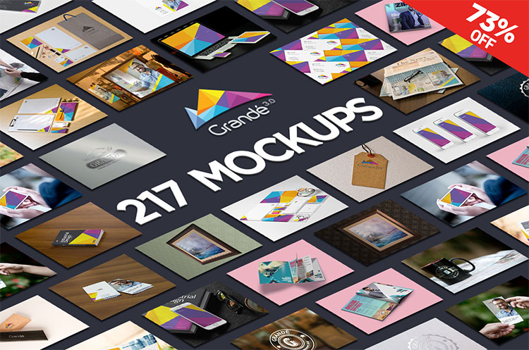 217 PSD Mockups Bundle