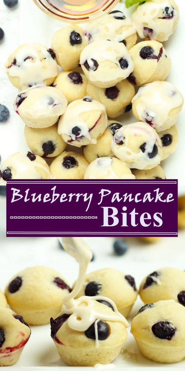 Blueberry Pancake Bites #breakfastideas