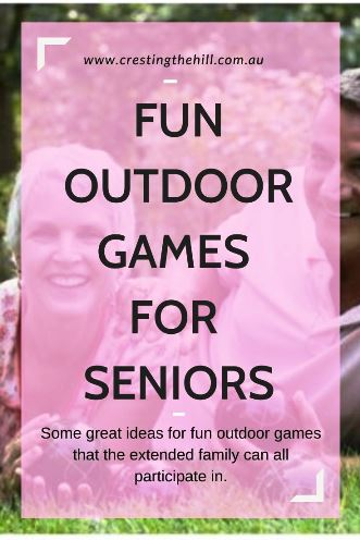 Some great ideas for fun outdoor games that the extended family can all participate in.