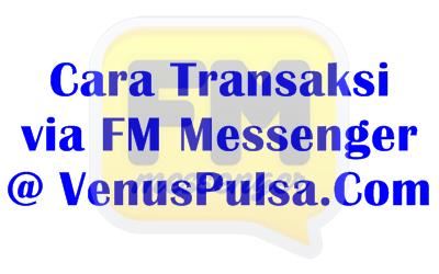Aplikasi Chat FM Messenger, Cara Baru Transaksi Pulsa di Venus Reload