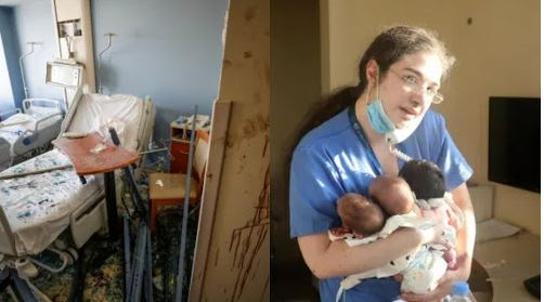 Photos Of Nurse Holding Tight To Three Babies In Hospital As Explosion Rocked Beirut