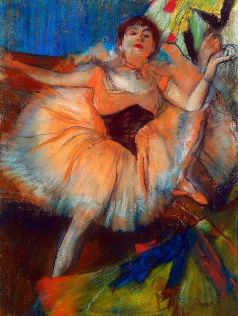 Эдгар Дега - Сидящая танцовщица (1879-1880)