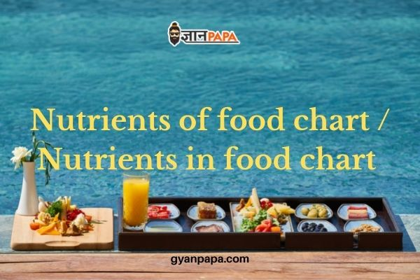Nutrients of food chart - Nutrients in food chart