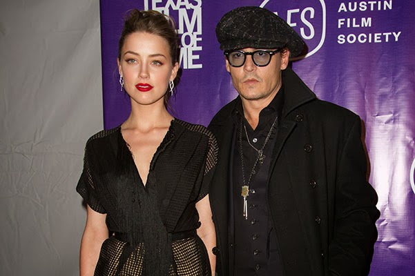 Amber Heard and Johnny Depp at the Texas Film Awards