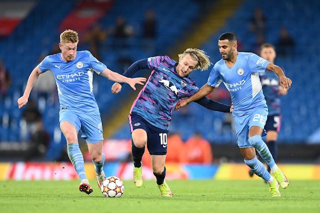 ملخص واهداف مباراة مانشستر سيتي ولايبزيج (6-3) دوري ابطال اوروبا