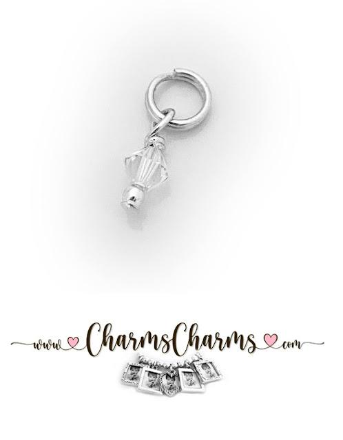 April Birthstone Crystal Charm by Swarovski
