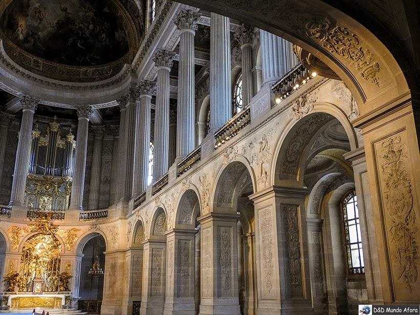 Capela dentro do Palácio de Versalhes