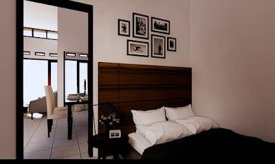 Kamar Utama Rumah Minimalis 6x12