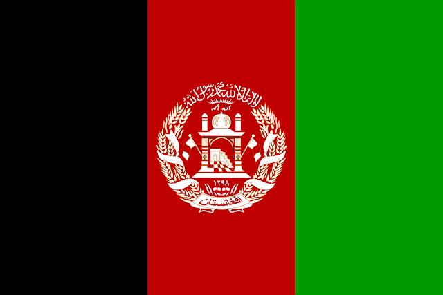 Bandera de Afganistán.