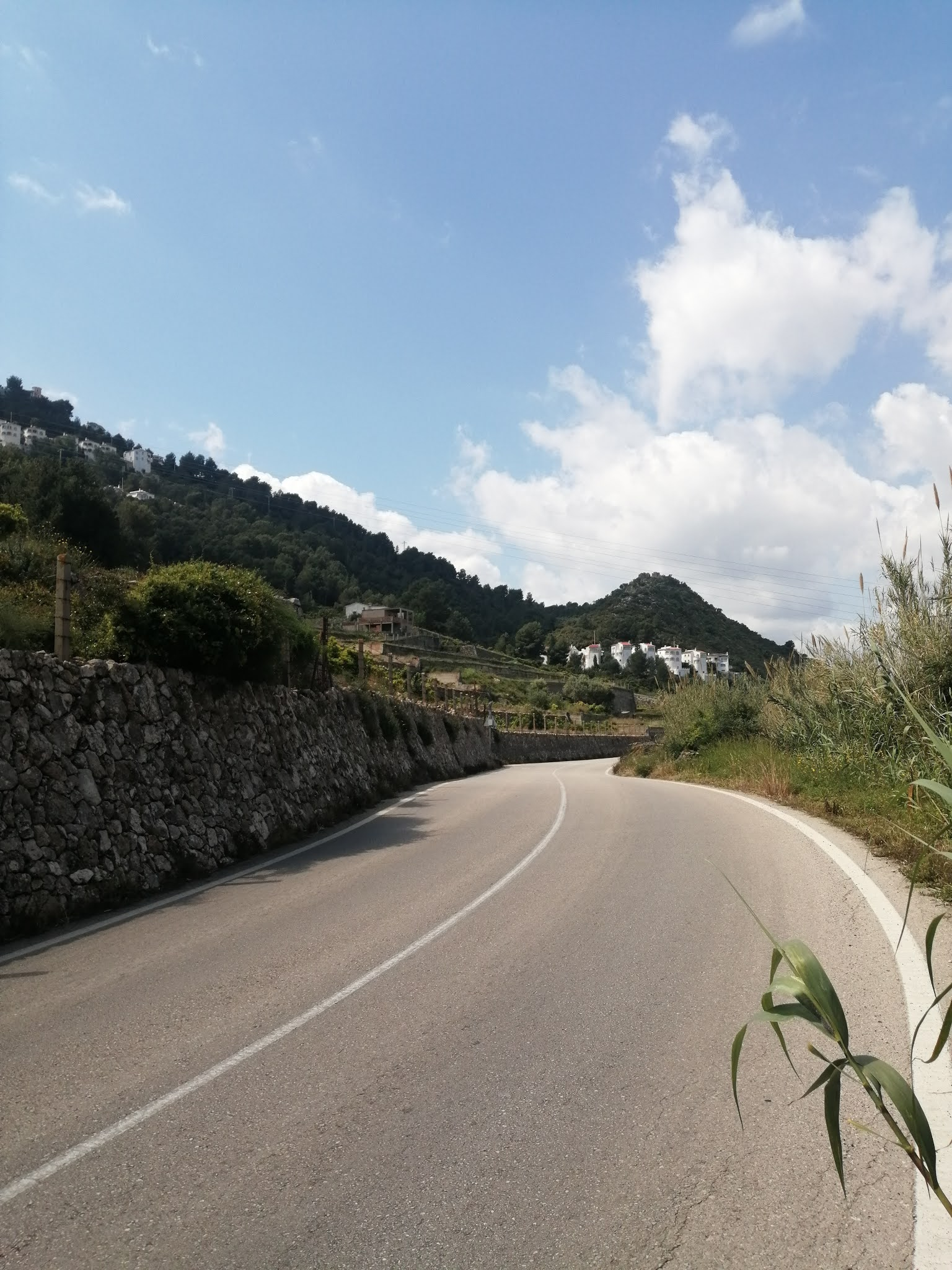 The CV-638 between Oliva and Font d'en Carròs