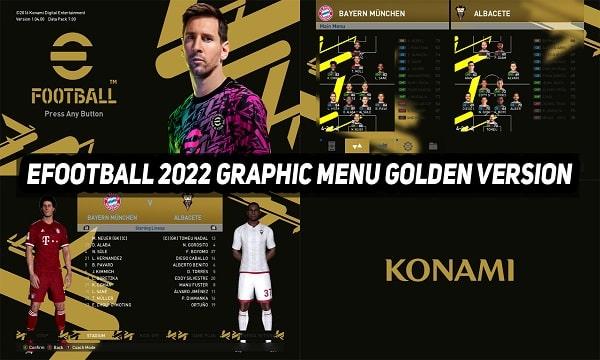 PES 2017 New Graphic Menu eFootball 2022 Golden Version