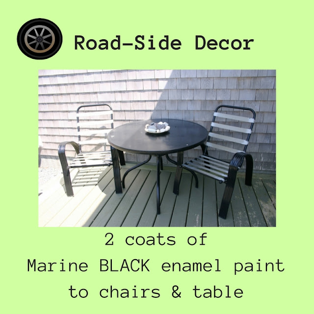 The Outdoor set gets a fresh coat of BLACK marine oil paint.