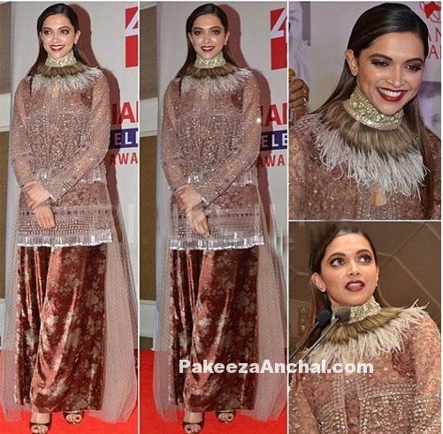 Deepika Padukone in embellished Sabyasachi outfit