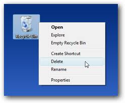 How to Remove recycle bin from your desktop