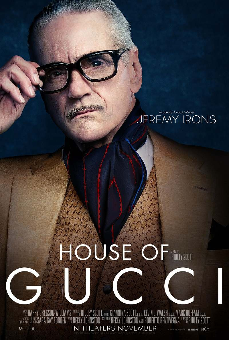 house of gucci poster jeremy irons