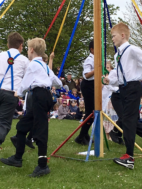 Maypole dancing, UK, England, traditional dancing