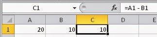 Como subtrair, fazer diferença no Excel - Planilhas do Excel