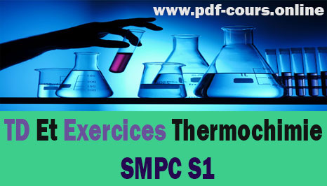 TD Et Exercices Thermochimie S1 SMPC