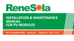 Installation Manual For PV Modules Renesola