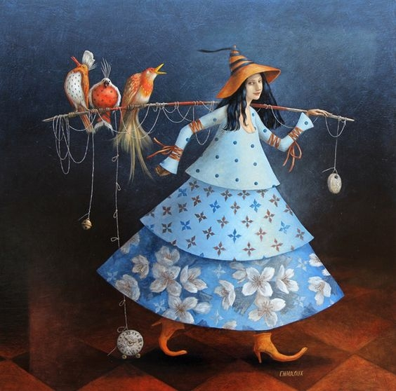 03-Les-Grands-Chanteurs-Catherine-Chauloux-Paintings-of-Surreal-Worlds-and-Characters-www-designstack-co