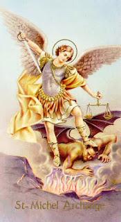 Représentation de St Michel et du démon
