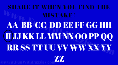 Mistake Finding Picture Puzzle-Answer