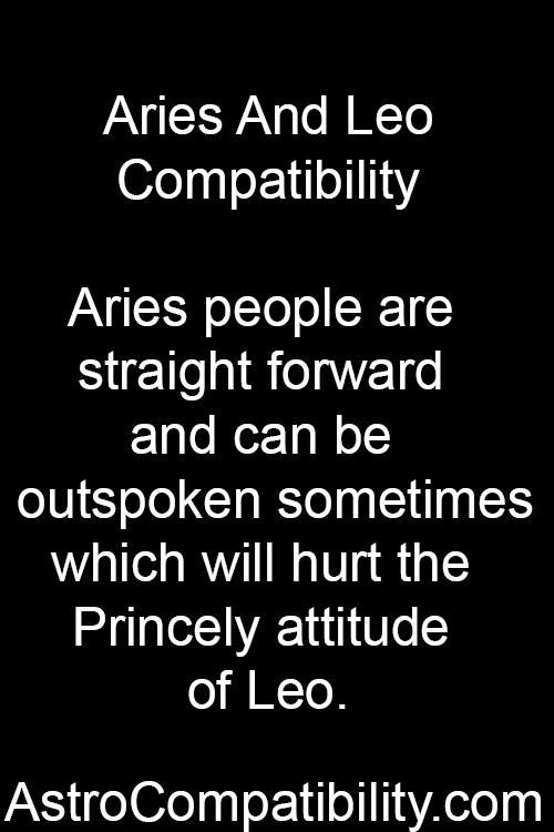 Aries woman n leo man compatibility