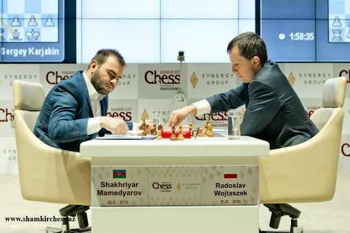 Shamkir Chess 2017:  Wojtaszek 1-0 Shakhriyar Mamedyarov - Photo © site officiel