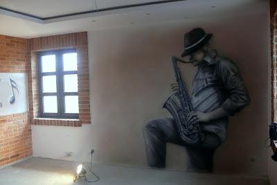 Malarstwo ścienne, malowanie obrazów na ścianach, murale 3D, malowidła ścianne