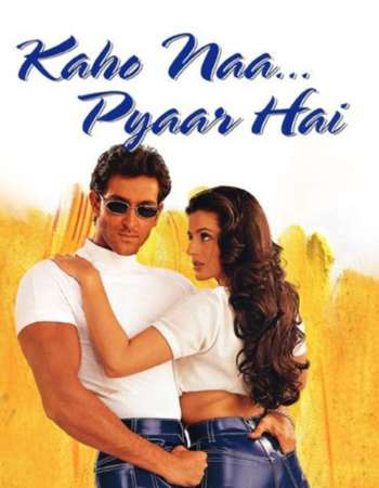 Poster Of Kaho Naa Pyaar Hai 2000 Hindi 550MB DVDRip 720p ESubs HEVC Watch Online Free Download Worldfree4u